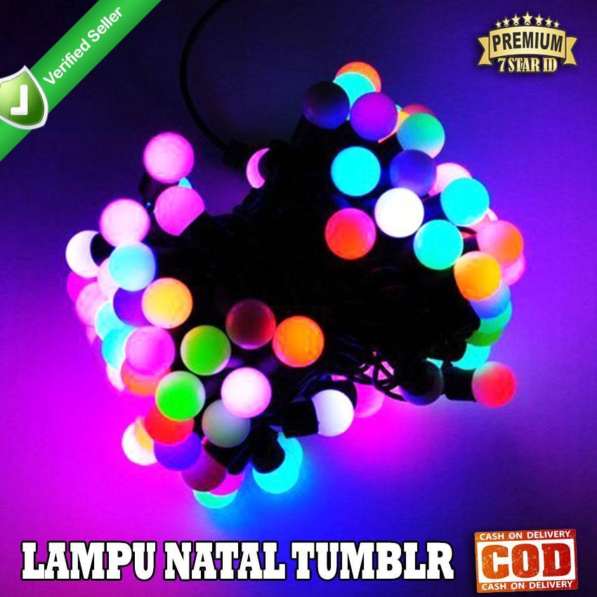SHINE STAR - PROMO 2020 Lampu Tumblr RGB Warna Warni Bulat Bola Anggur Original - Lampu Hias Dekorasi Natal LED 5 Meter - Lampu Tidur Panjang 5 Meter