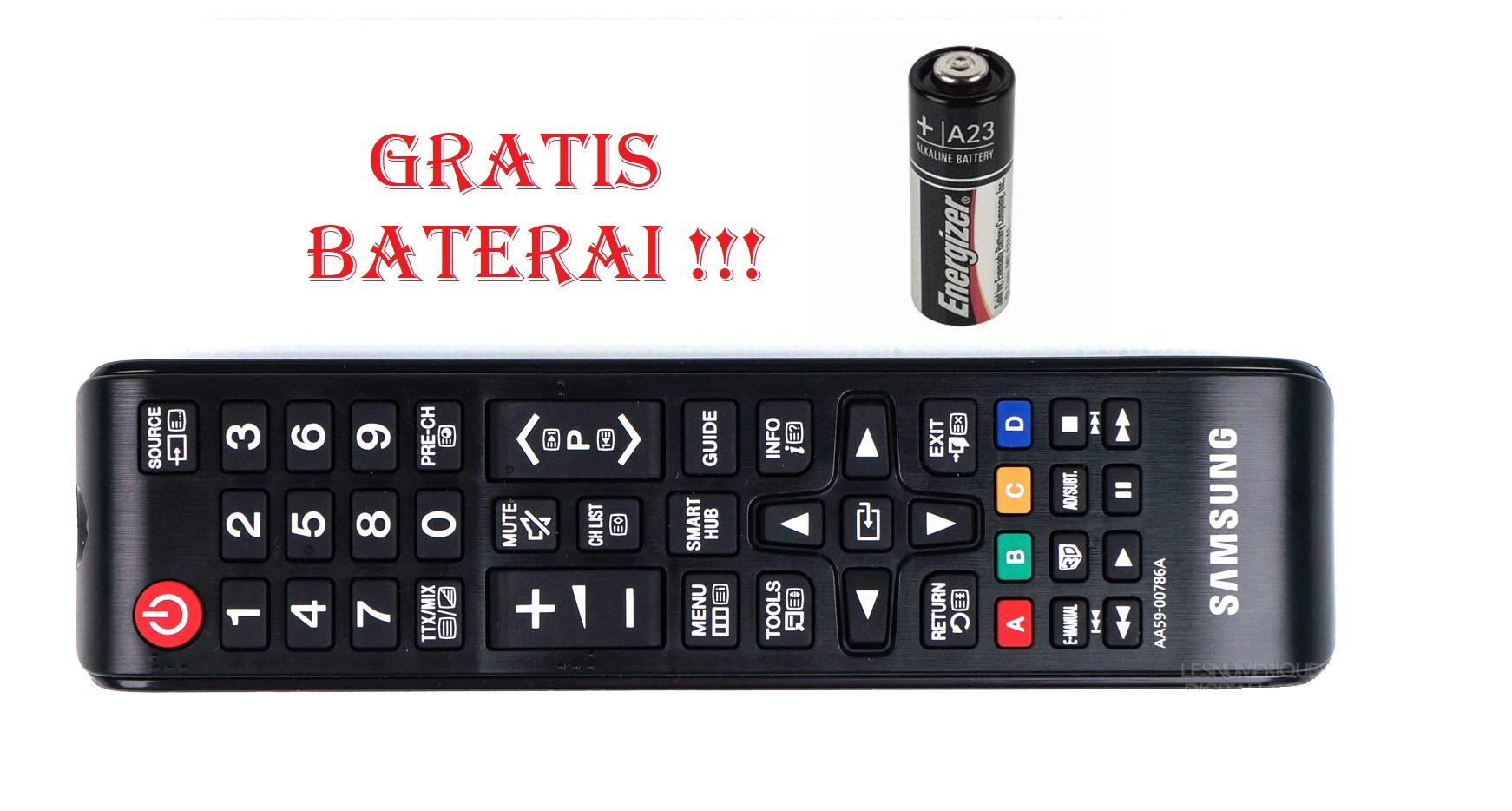 Remote TV Samsung Gratis Baterai Original 100% - Remot TV LCD LED Hitam_JSS13