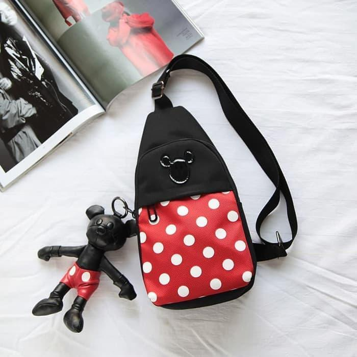 Tas Selempang Anak Mickey Minnie Mouse kids bodypack chest bag MM-01