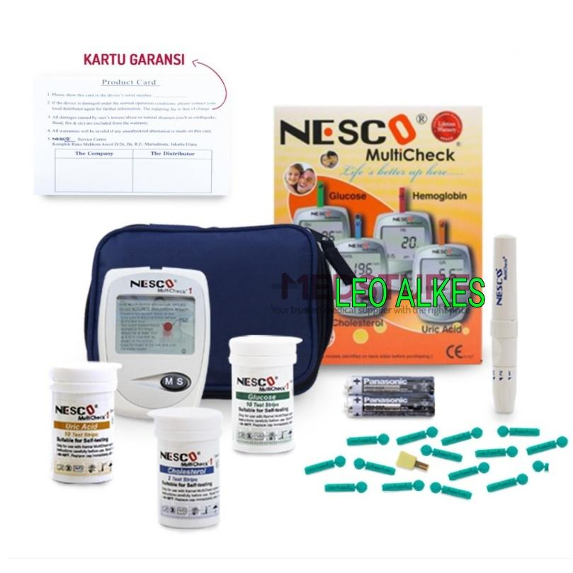 Nesco Multi check GCU / Alat Cek Gula Darah 3 in 1