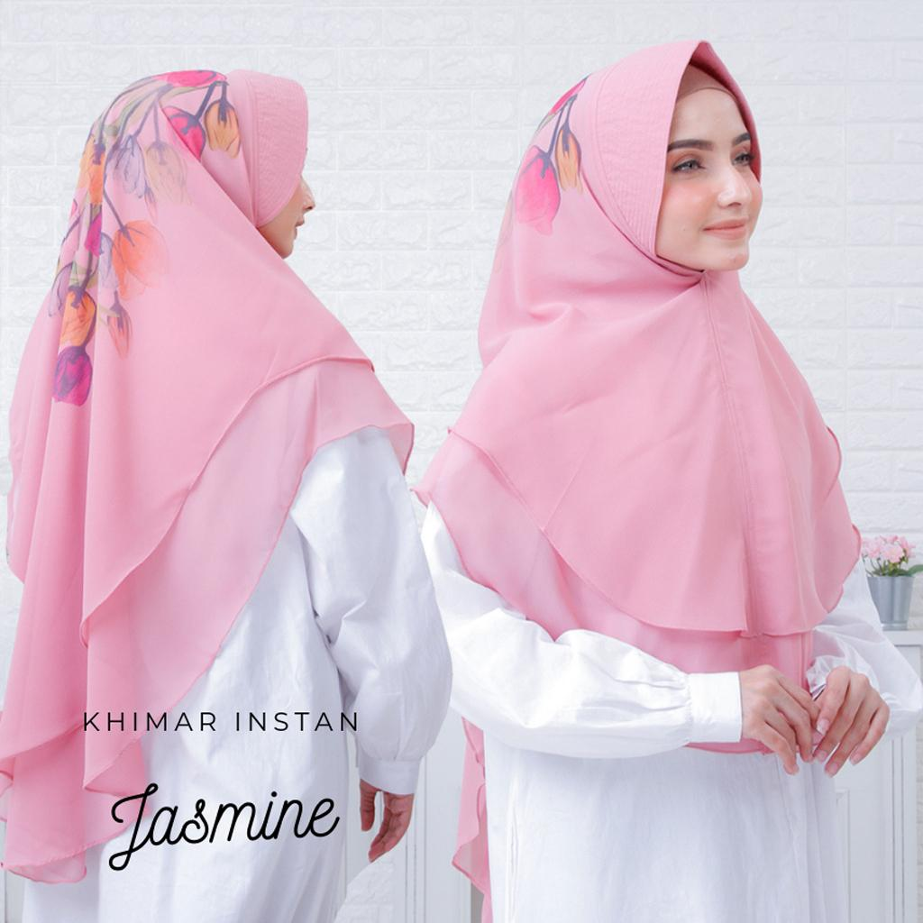 Jasmine Printing Hijab Khimar Syari Murah