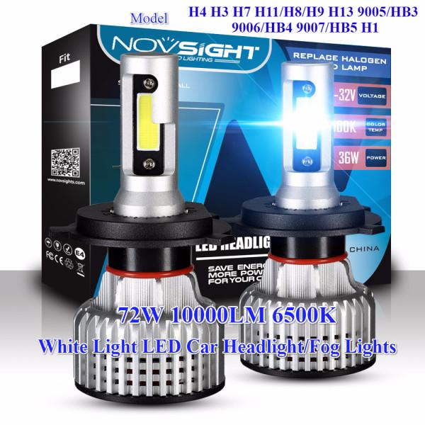 Bộ Đèn Pha LED Xe Hơi Sea-Bloom, 2 Chiếc Trắng NOVSIGHT H4 H11/H8/H9 9005/HB3 72W 10000LM 6500K đèn Sương Mù