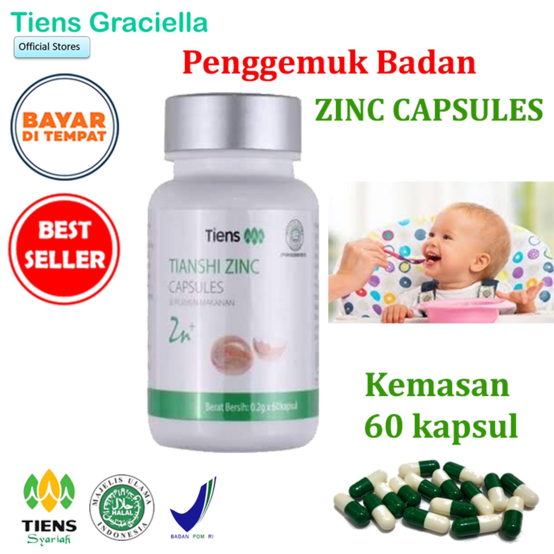 Tiens Zinc Penggemuk Badan Paket Promo Banting Harga 60 Kapsul + Gratis Kartu Member Tiens Graciella By Tiens Graciella.