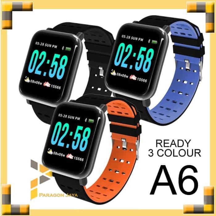 PALING LARIS Smart Watch A6 bkn Smartwatch Xiaomi Weloop Amazfit Bip Blood Pressure