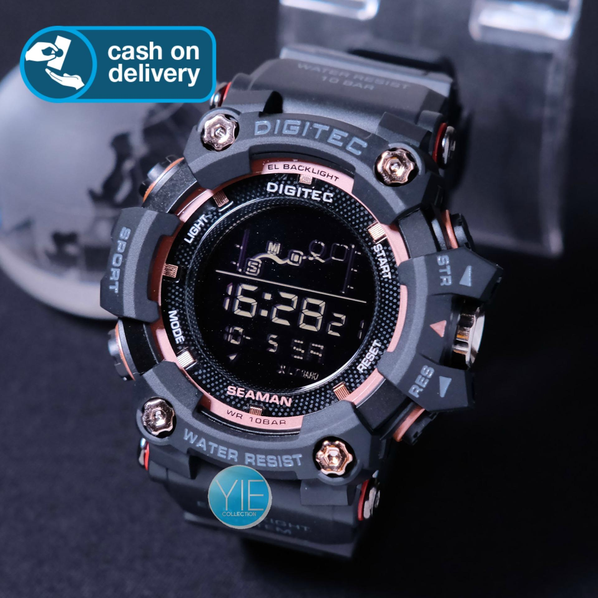 Jam Tangan Sport Pria Army Digitec Seaman New Edition DG 3096 T Original Anti Air Strap Karet FH