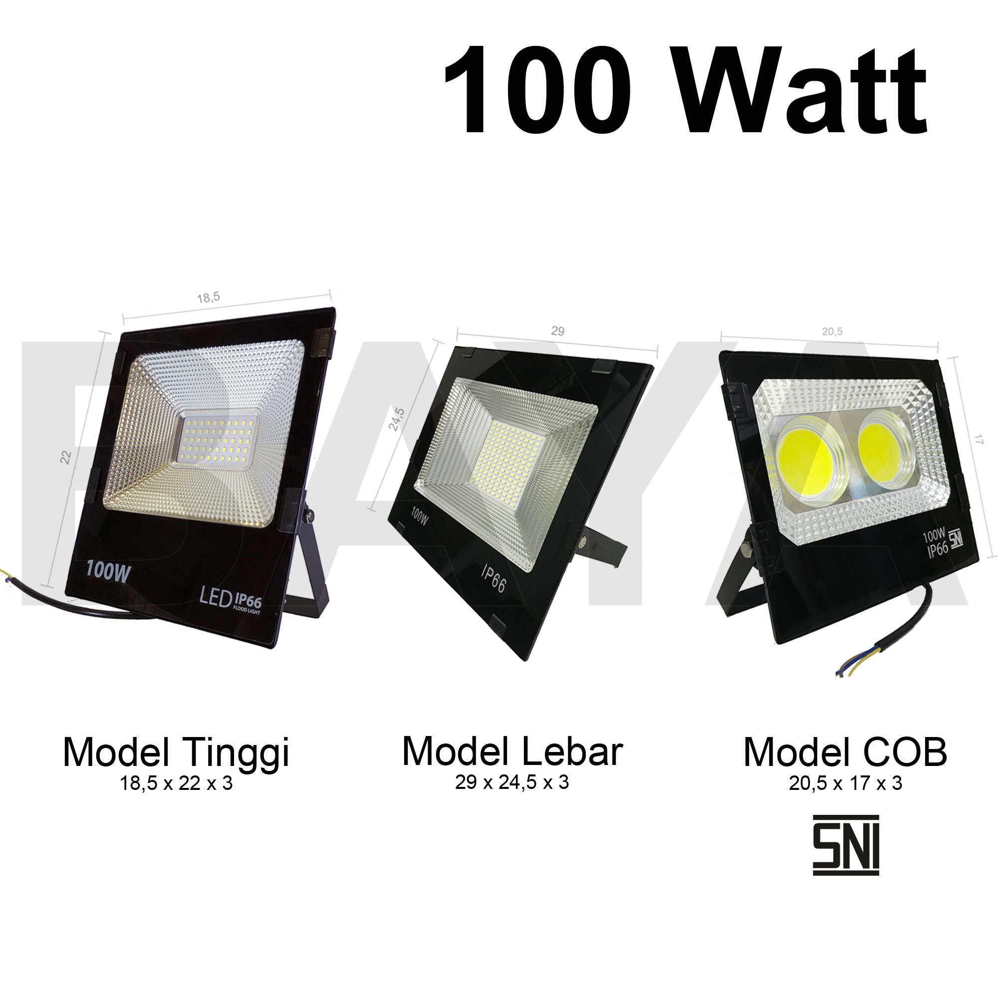 lampu led sorot / tembak / floodlight / outdoor 100W 100 watt reflector