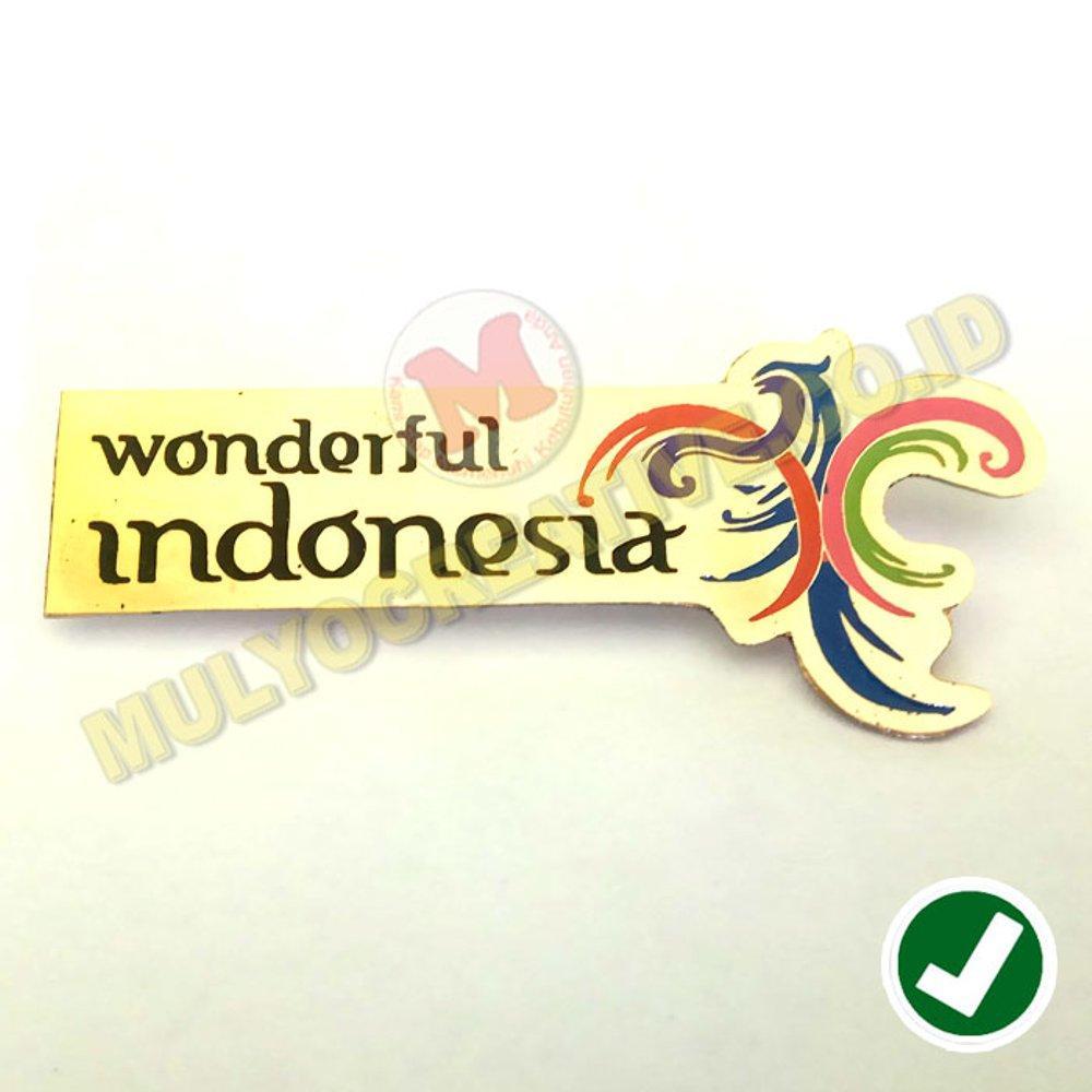 Pin Wonderful Indonesia - Pin Logo Pesona Indonesia / 4pcs