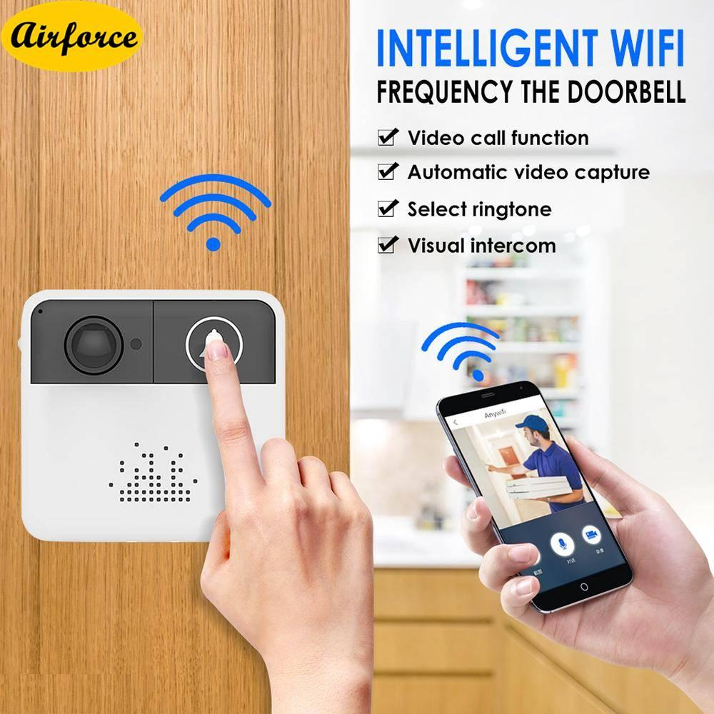 Airforce Smart Video 720P Wireless WiFi Door Bell IR Visual Camera Record Security System Kit