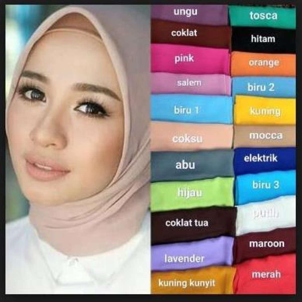 Hijab Segi Empat Polos Bella Square UK 115 x 115 / Jilbab Hijab Segiempat / Kerudung / Bela Square / Bella Squre / Jilbab Segi Empat Polos / Jibab / Kerudung Segi Empat Polos / Pasmina / Phasmina / Bella Square