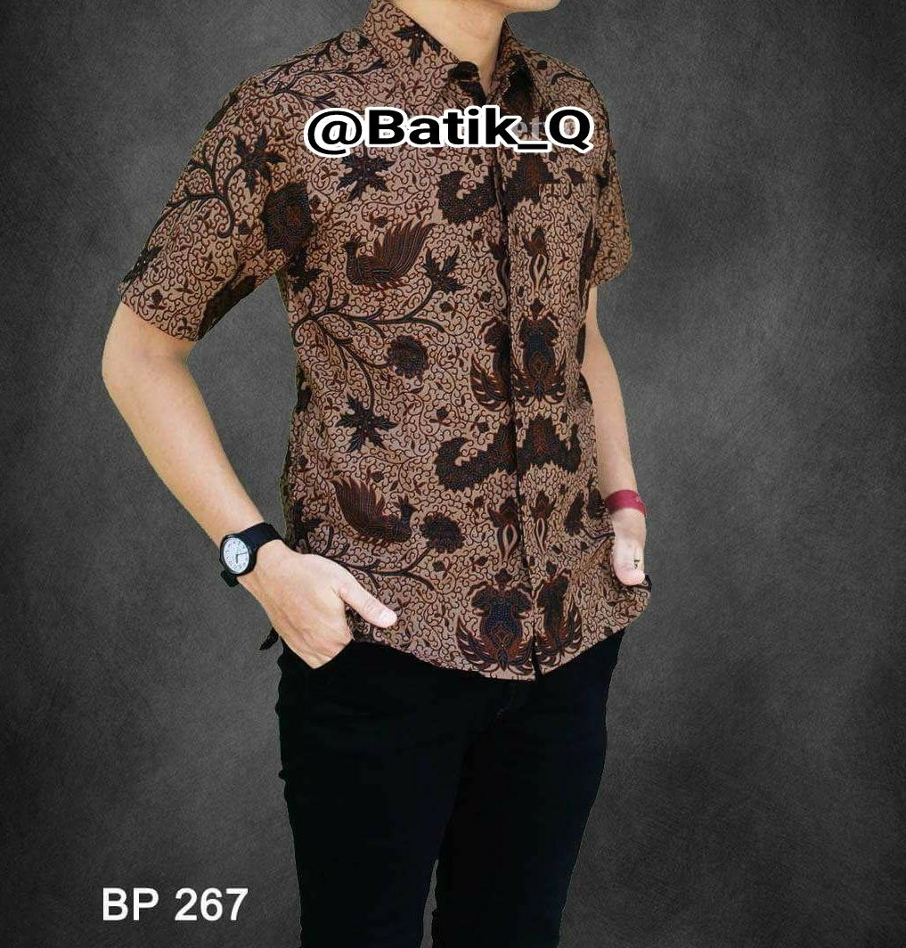 Kemeja Batik Pria Baju Barik Pekalongan Motif Batu Raden 8295937b59