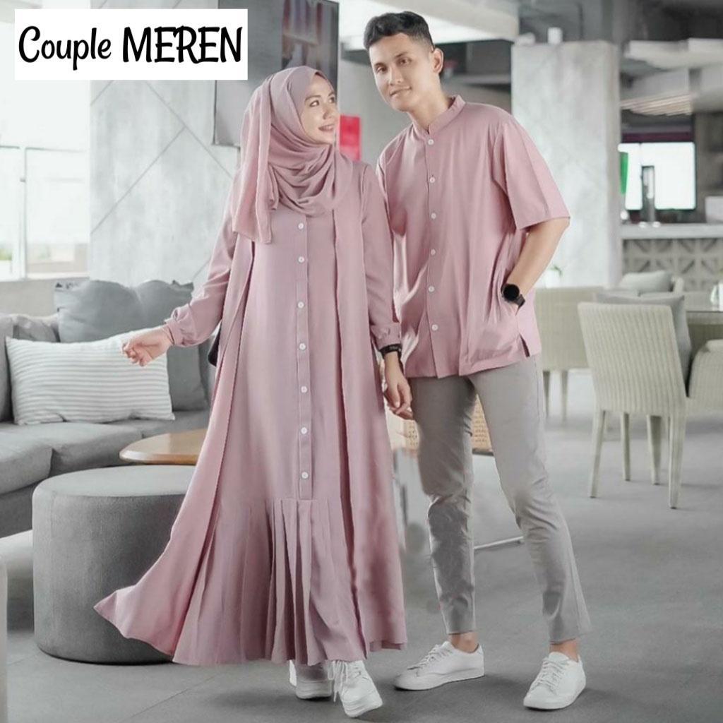 Toko Gamis Jakarta - Couple Meren / Baju Gamis Wanita / Setelan Couple Koko  / Setelan Baju Muslimah