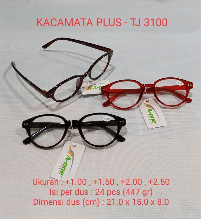 Kacamata Baca Plus (+) TJ-3100 Pria   Wanita +1.00 1d29680a50