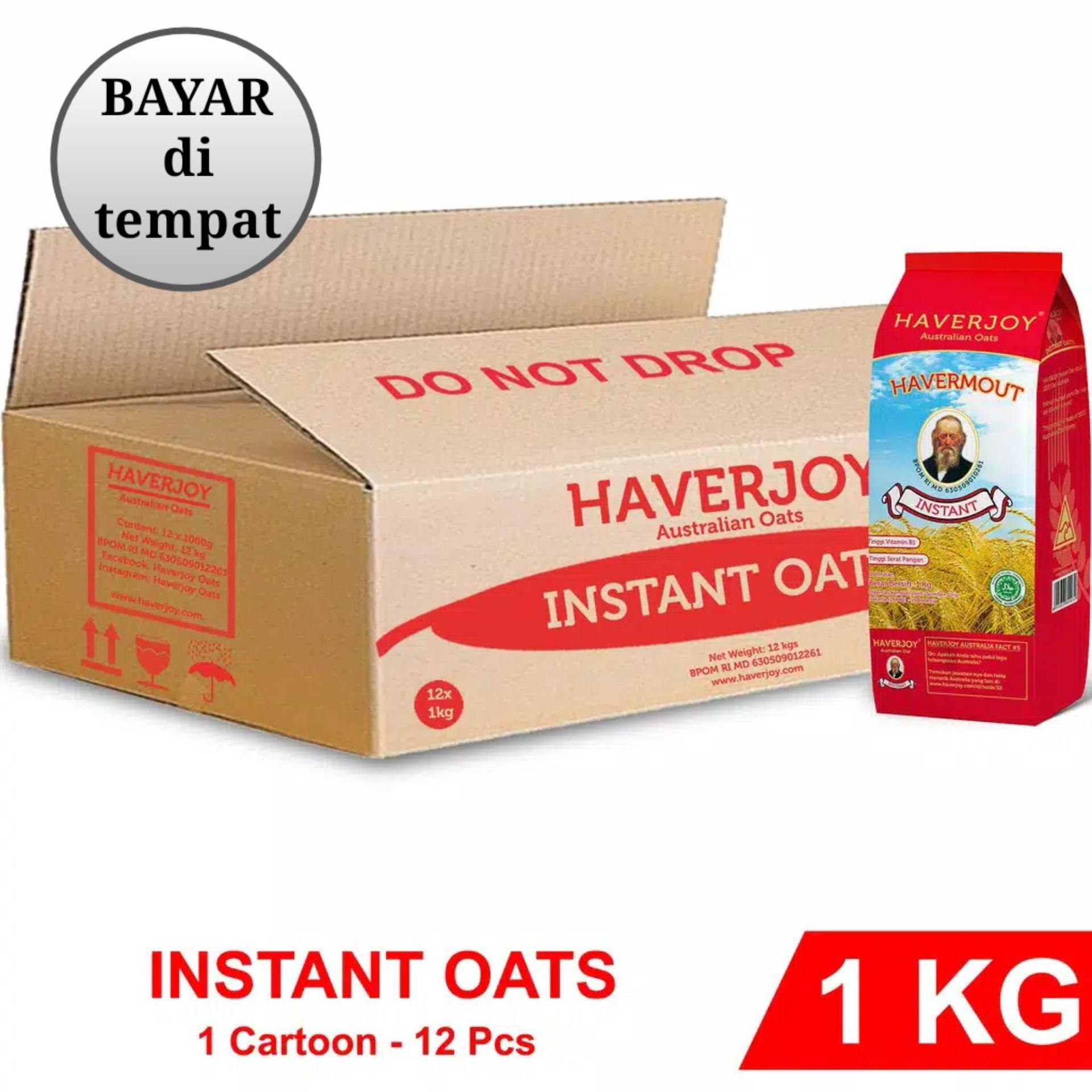 Haverjoy Full Carton Instan Oats 1kg