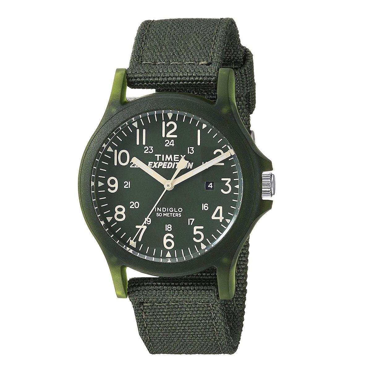 ebc8c318ec09 Timex Expedition Green Stainless-Steel Case Nylon Strap Unisex TW4B09500