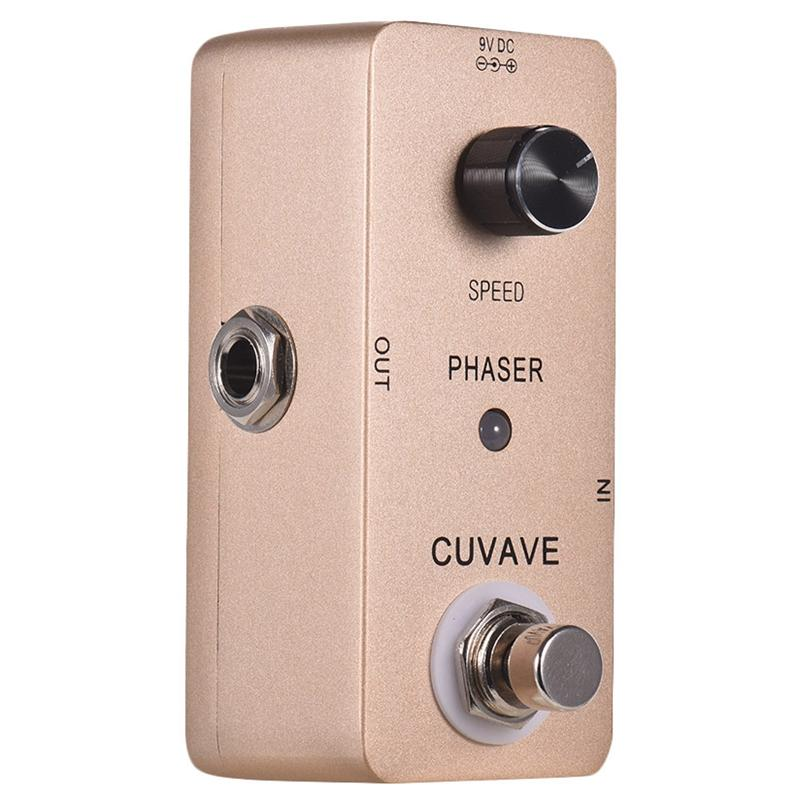 Cuvave Phaser Analog Psychedelic Phase Guitar Effect Pedal Zinc Alloy Shell True Bypass