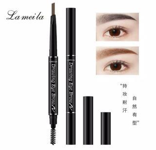 Lameila 7 Colors Double Heads Eyebrow Pencil Lasting Eyebrow Pen (Waterproof) thumbnail