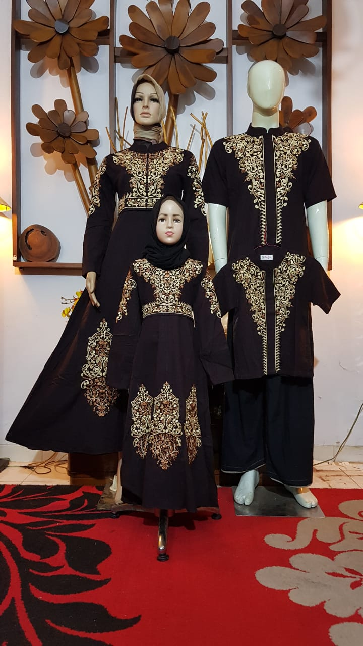 (size 6 - 12) Baju Busana MusliM SABNI FASHION Sarimbit Couple Keluarga / KOKO AYAH / GAMIS IBU / KOKO ANAK / GAMIS ANAK / sarimbit keluarga / coupel keluarga