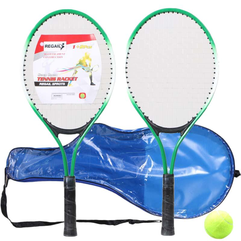 Bảng giá Regail Set Of 2 TeenagerS Tennis Racket for Training Tennis Ferroalloy+Nylon Mesh Tennis String with Ball (Green)