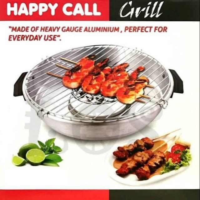 Promo Happy Call Grill 32cm/Alat Pemanggang/Panggang Happy Call Grill Di Atas Kompor