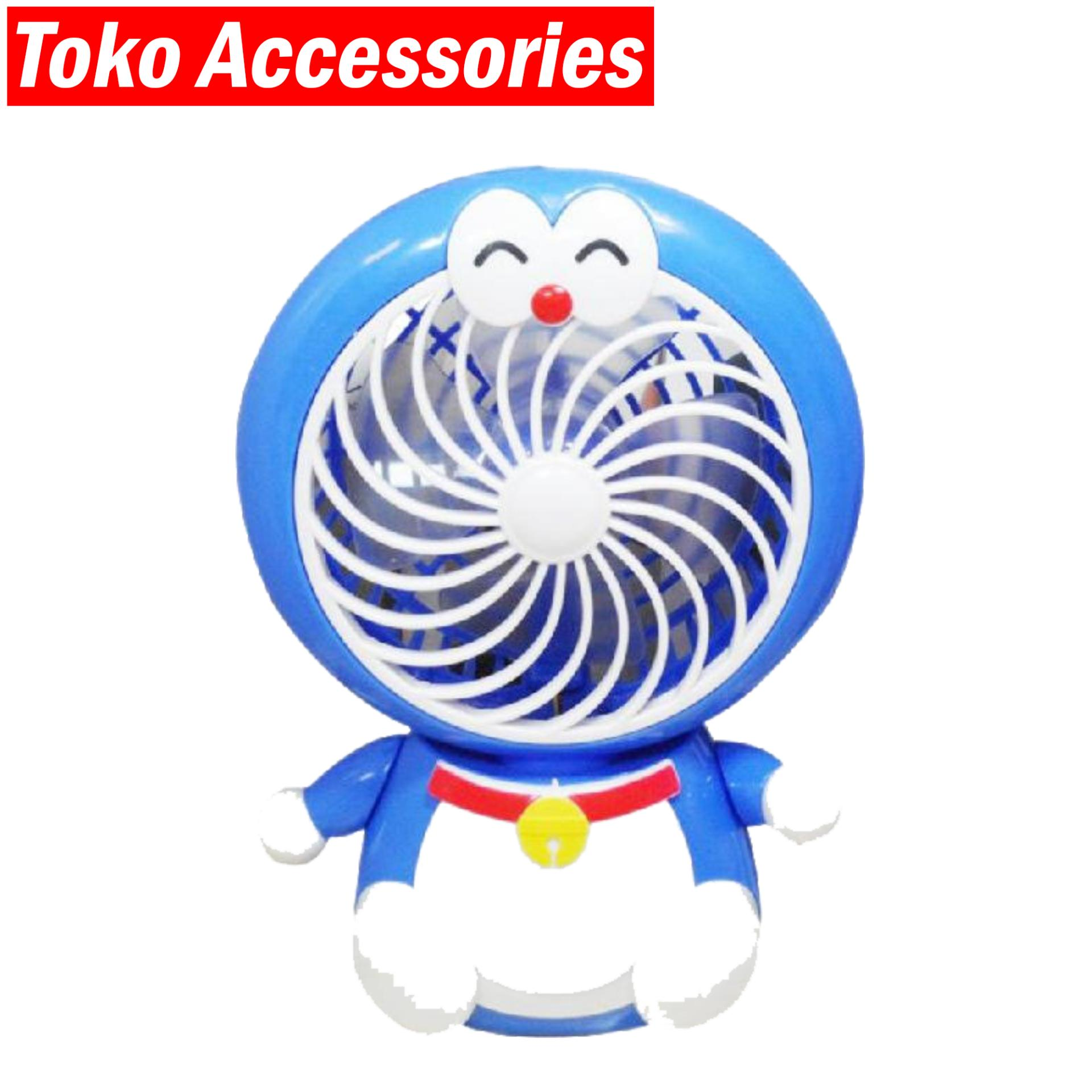 Kipas Mini Portable Doraemon 180 Degree Rotation Head Premium Quality By Toko Accessories.