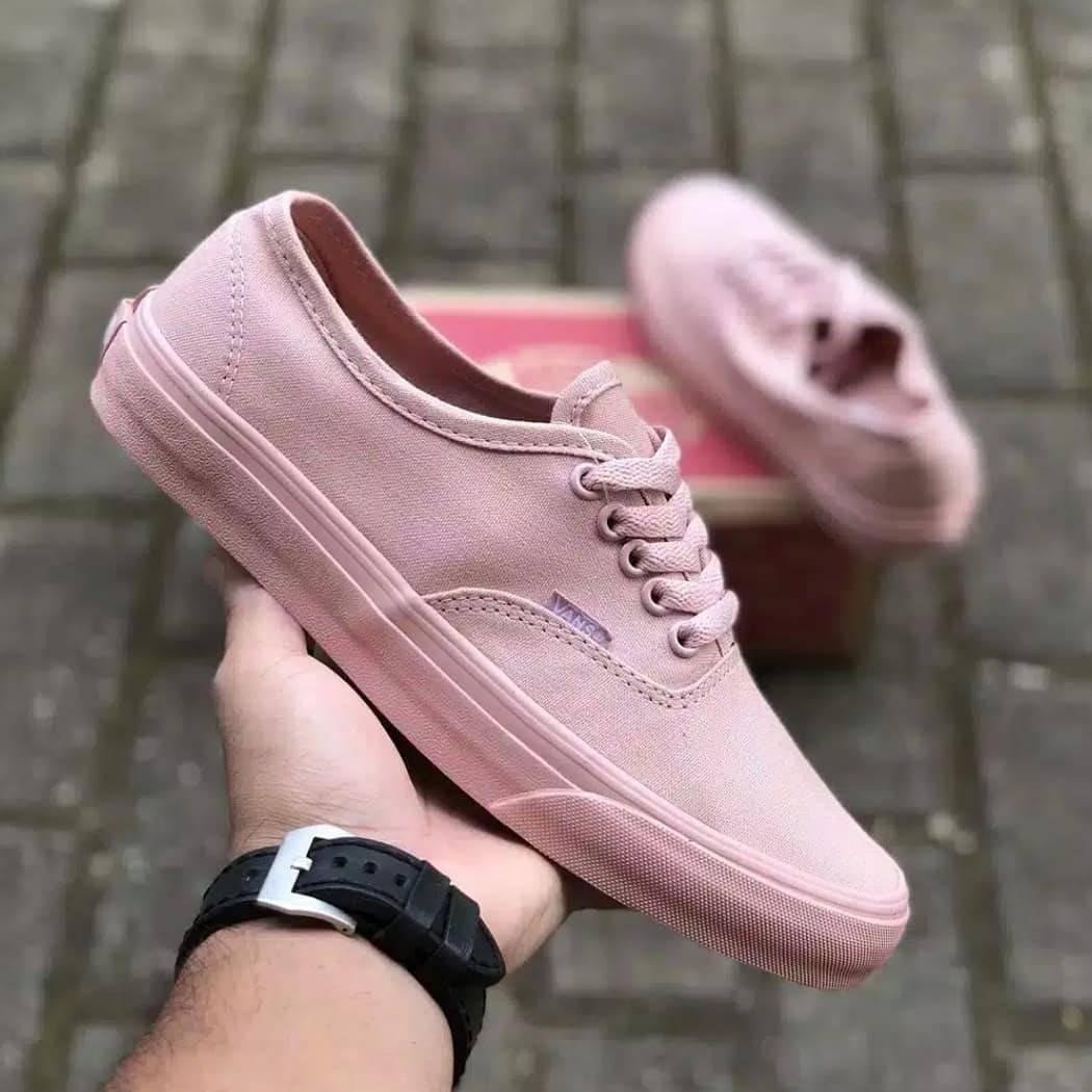 samurai Sepatu Vans_California Authentic Sneakers casual Full Pink Sekolah kuliah kerja Wanita
