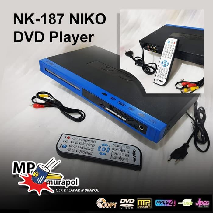 NK-187 NIKO DVD Player Niko USB MP4 ORIGINAL - Merah/biru