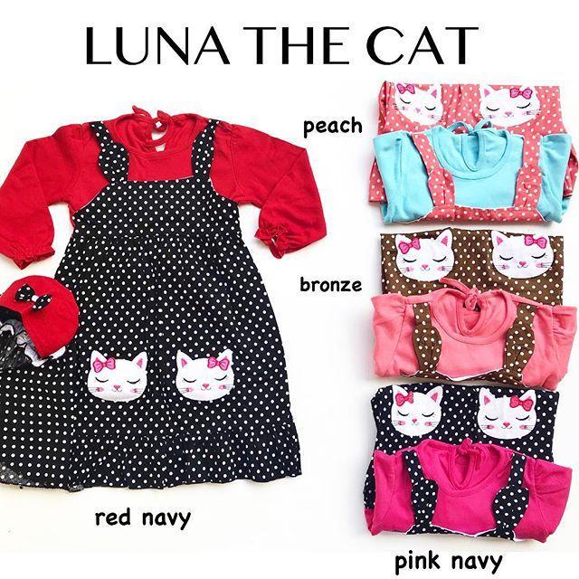 Pakaian bayi baju bayi LUNA THE CAT dress muslim bayi dress muslim anak gamis anak gamis