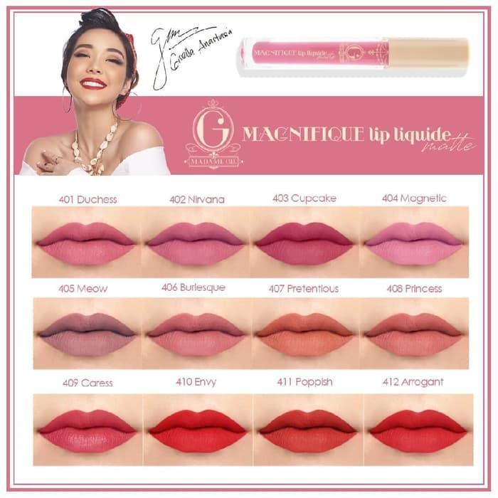 Madame Gie Lip Liquide Matte - Lip Cream Matte Madame Gie By Berlla Shop.