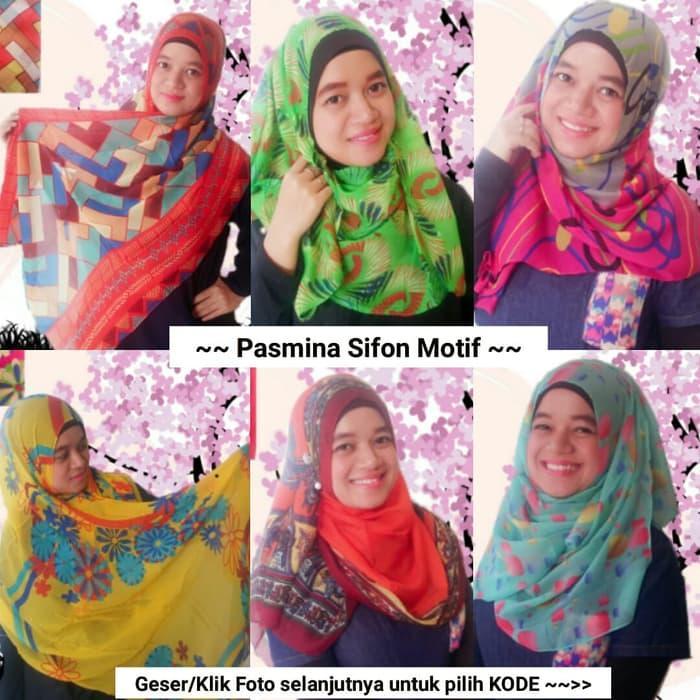 COD - FREE ONGKIR PROMO Pasmina Sifon Scarf Syal Hijab Jilbab Pashmina Souvenir Hadiah Murah (Shafa Gifts) - zQxMkDse
