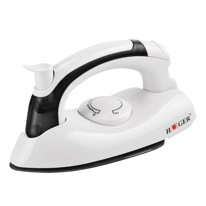 Haeger Mini Portable Foldable Electric Steam Iron for Clothes with 3 Gears Teflon Baseplate Handheld Flatiron for Home Travelling Eu Plug cao cấp