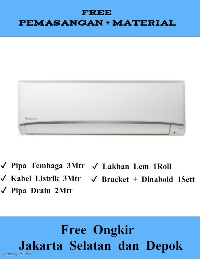 AC Panasonic 1/2 PK YN5TKJ Termasuk Pipa Bracket Dan Pemasangan