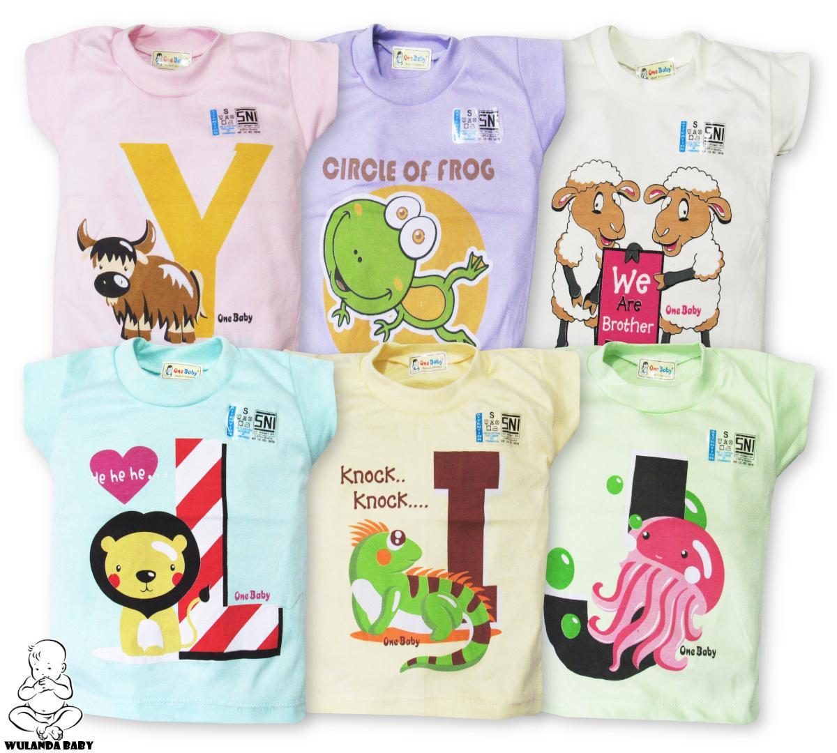 Wulanda 6 Pcs Baju Kaus Oblong Anak Bayi Laki Laki Dan Perempuan Warna Dan Motif Yang Berbeda One Baby By Wulanda Baby.