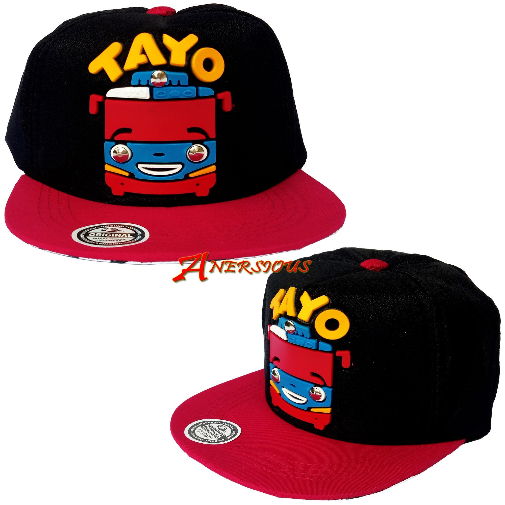 Topi Snapback Anak Model Paku Topi Dengan Desain Motif Keren Gambar Timbul  Karakter Kartun Tayo fe594e5715