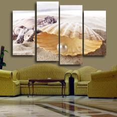 4 Panel Pearl Kerang Modern HD Gambar Cetak Lukisan Di Atas Kanvas Karya Seni untuk Dekorasi Ruang Tamu Unframed (Tanpa Bingkai)