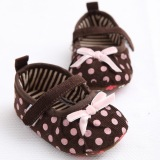 Harga 1 Year Old Baby Girls Toddler Shoes Soft Bottom Princess Shoes Series Ribbon Dots Cmc112 Brown Intl Branded