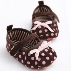 Jual 1 Year Old Baby Girls Toddler Shoes Soft Bottom Princess Shoes Series Ribbon Dots Cmc112 Brown Intl Oem Grosir