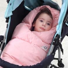 0-12 Bulan Baru Lahir Bayi Swaddle Bungkus Menebal Kutub Bulu Bayi Sleeping Tas Sleepsack (L Anda Tinggi 89 Cm Di Bawah Bayi) -Internasional