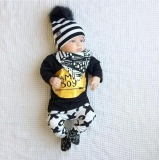 Toko Pakaian Anak Laki Lak Baru Lahir Lengan Panjang Bahan Katun Set Setelan Kaos Celana Bertuliskan Mama Boy Warna Hitam Untuk Usia 24 Bulan Oem Di Tiongkok