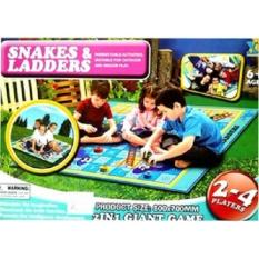 [0960250043] Playmat Snakes and Ladders 2IN1 Giant Game Mainan Anak