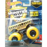 0960740002 1 Hot Wheels Monster Truck Monster Jam Cool Bus Sch**l Bus Yellow Indonesia Diskon