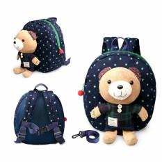 Toko 1 3 Tahun Bayi Keeper Balita Berjalan Keselamatan Memanfaatkan Bear Backpack Strap Bag Biru Biru Intl Dekat Sini