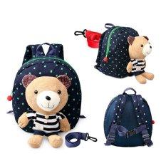 Toko 1 3 Years Old Baby Keeper Toddler Walking Safety Harnesses Bear Backpack Strap Bag Blue Di Tiongkok