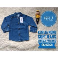 (1-3Tahun) Kemeja Koko Anak Soft Jeans Lengan Panjang