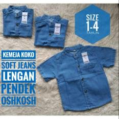 (1-3Tahun) Kemeja Koko Anak Soft Jeans Lengan Pendek