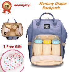 [Gratis  1 Hadiah] Tas Ransel Perjalanan Multi Fungsi Untuk Tempat Popok Bayi Kapasitas Besar Warna Biru Ungu