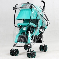 1 PC Stroller Rain Cover Raincoat untuk Stroller Kursi Roda Pram Stroller Aksesoris Universal-Intl