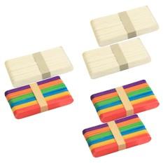 100Pcs Ice Cream Sticks Natural Wooden Popsicle Sticks DIY Craft Sticks Freezer Pop Sticks 5.91inches Length - intl