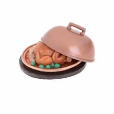 1:12 Rumah Boneka Miniatur Makanan Kalkun Natal dengan Tutup-Internasional