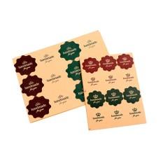 Veli Shy 120 Pcs Vintage Bunga Gelombang Gelombang Kraft Kertas Buatan Tangan Untuk Anda Stiker Segel Label Hadiah-Intl By Veli Shy.