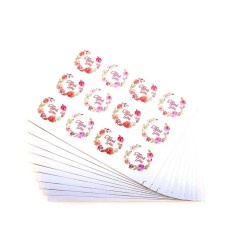 120 Pcs/lot Terima Kasih Kraft Tempel Stiker Segel Baking Hadiah Stiker Label-Intl By Home Garden.